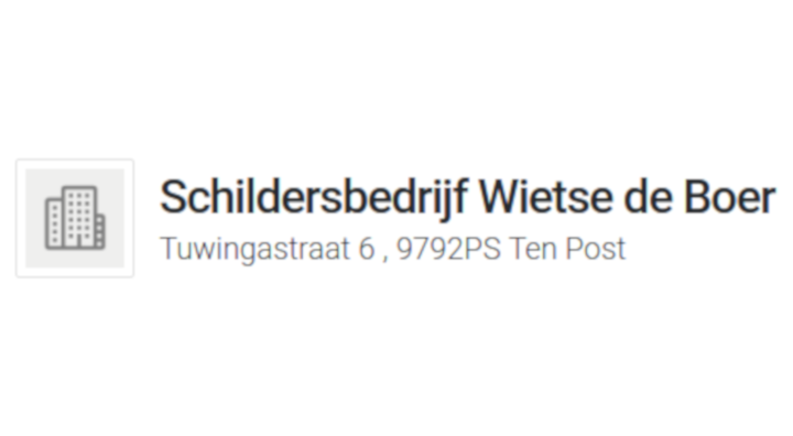 Schildersbedrijf Wietse de Boer
